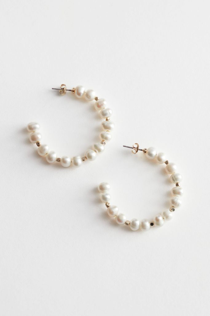 other stories, pearl earrings, work from home, fashion