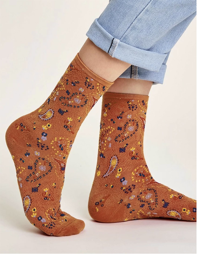 Shein paisley patterned socks, socks and sandals trend, spring 20