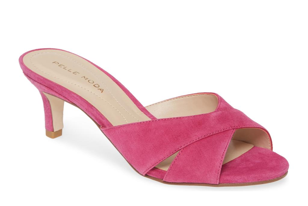 pelle moda, mules pink