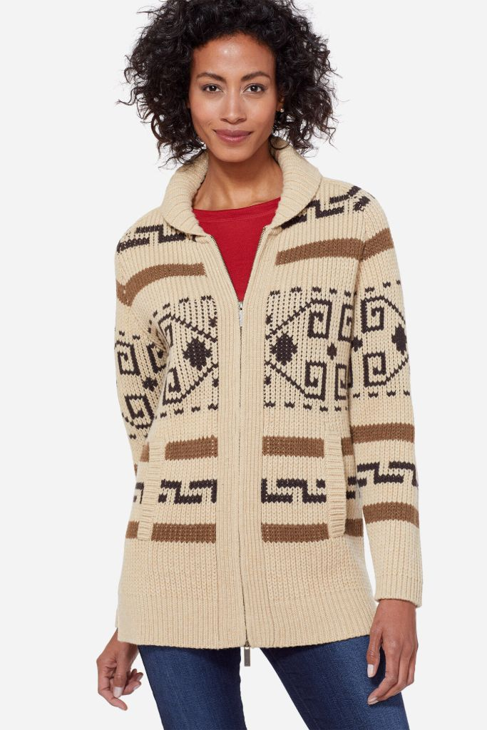pendleton sweater, westerly cardigan, work from home, fashion