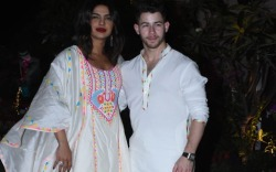 Priyanka Chopra Jonas with her husband