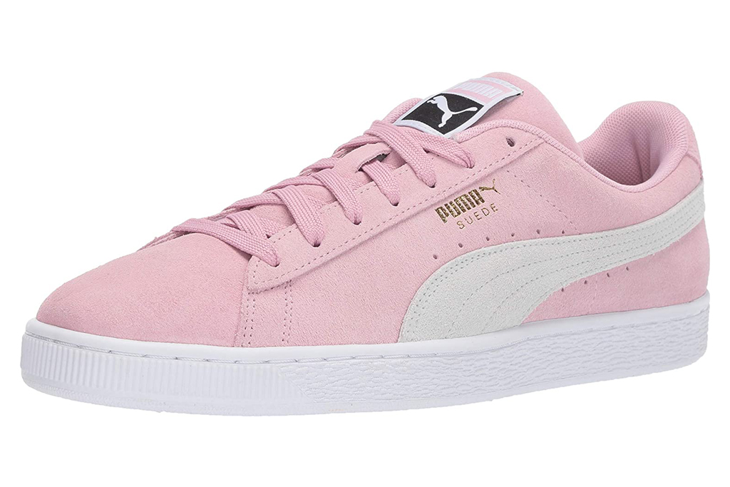 puma sneakers, pink, mens, white