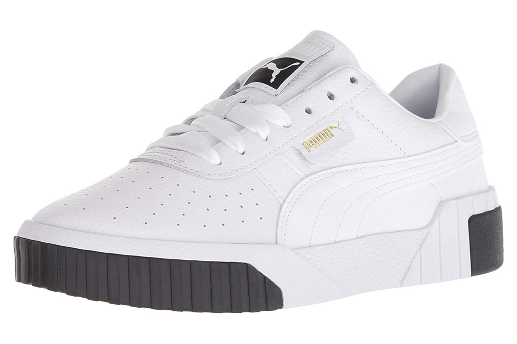 puma sneakers, black, white