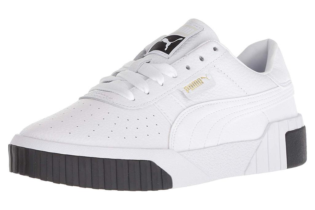 puma sneakers, black, white