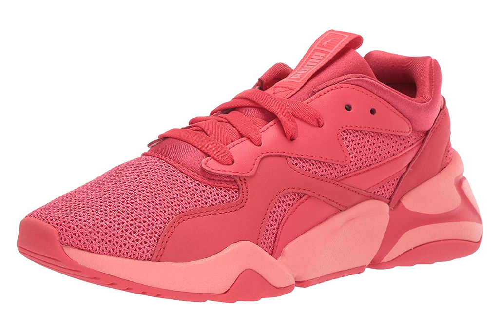 puma, red sneakers