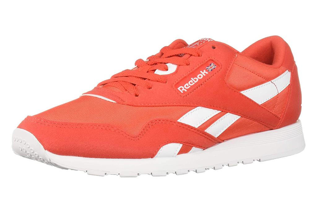 Reebok Classic Nylon Sneakers, orange