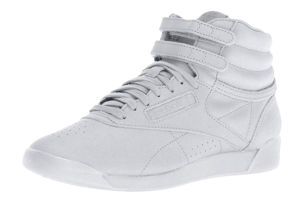 reebok sneakers, high top, gray