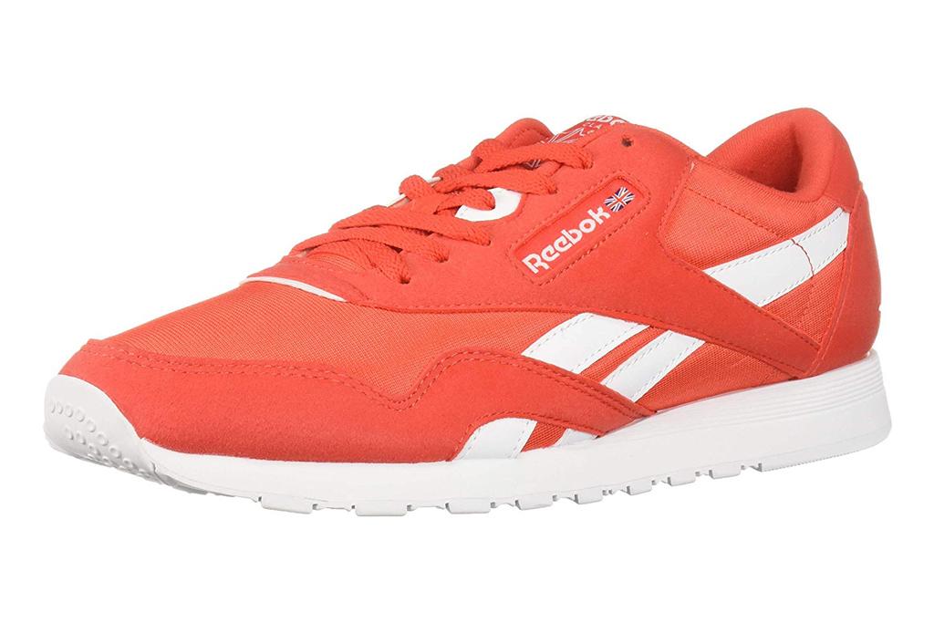 reebok sneakers, orange