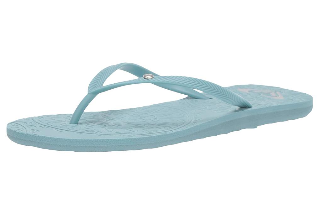 roxy, flip flops, blue