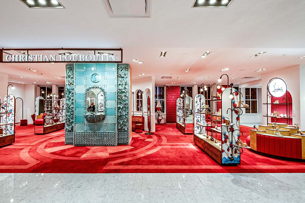 Saks Fifth Avenue New York womens shoe floor