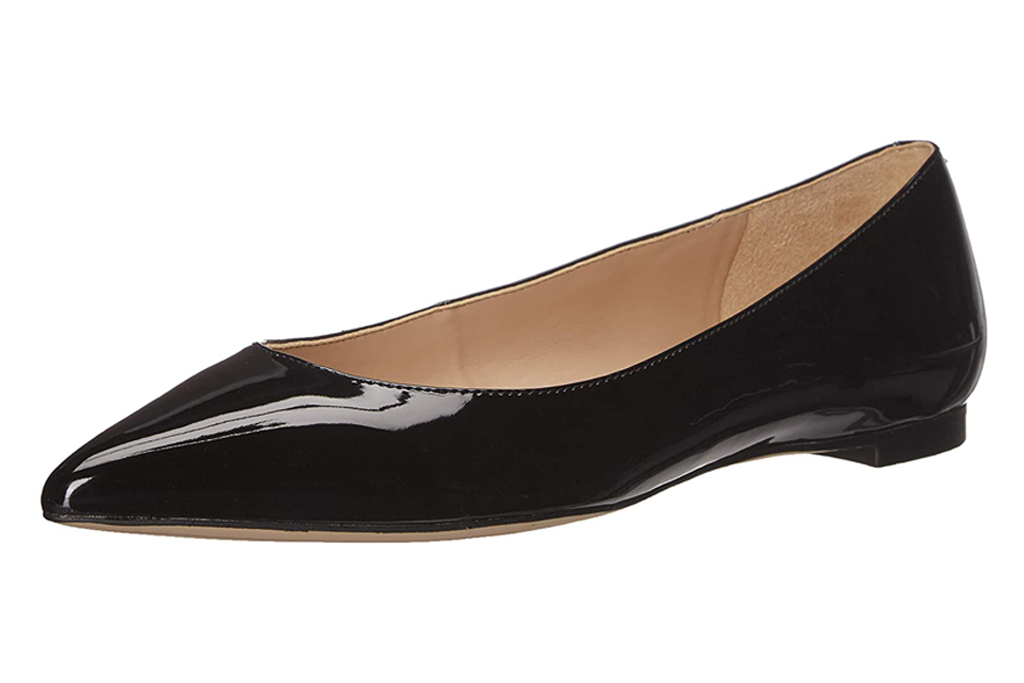 sam edelman, flats, pointed toe, black