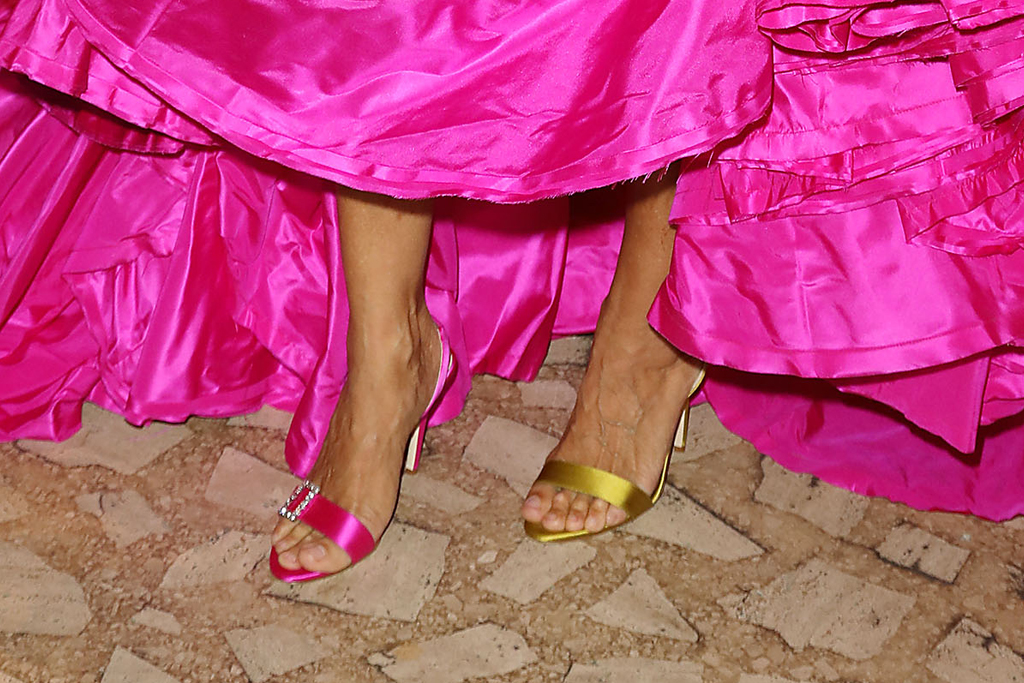 sarah jessica parker, sjp, pink, zac posen, New York City Ballet Fall Fashion Gala