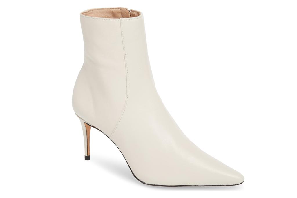 schutz, boots, booties, white, heel