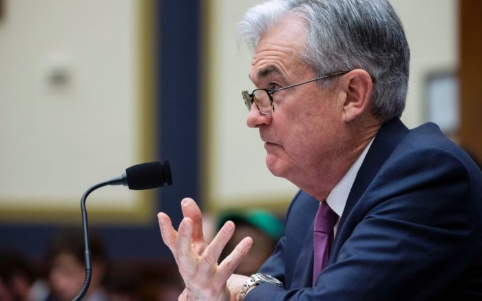Federal Reserve Chairman Jerome Powell testifies before the House Committee on Financial Services, on Capitol Hill, Tuesday, Feb.11, 2020 in WashingtonFederal Reserve Powell Congress, Washington, USA - 11 Feb 2020