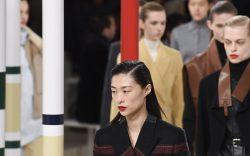 Model on the catwalkHermes show, Runway,