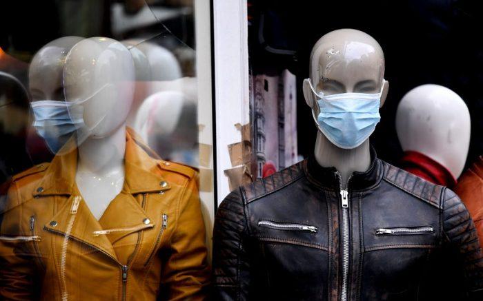 Face masks being sold on Oxford Street, London.Coronavirus outbreak, London, UK - 03 Mar 2020