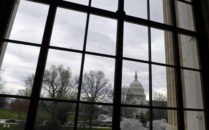 View of Capitol Hill in WashingtonVirus Outbreak Congress, Washington, United States - 20 Mar 2020