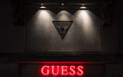 A view of a Guess store