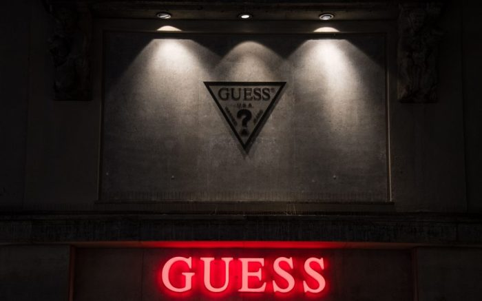 A view of a Guess store logo sign in Munich, GermanyBrands in Munich, Germany - 11 Mar 2017