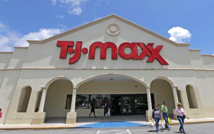 In this, a TJ Maxx store is shown in Hialeah, FlaEarns TJ Maxx, Hialeah, USA - 16 May 2017