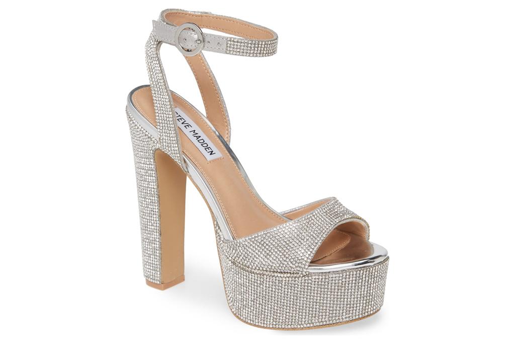 steve madden, heels, glitter