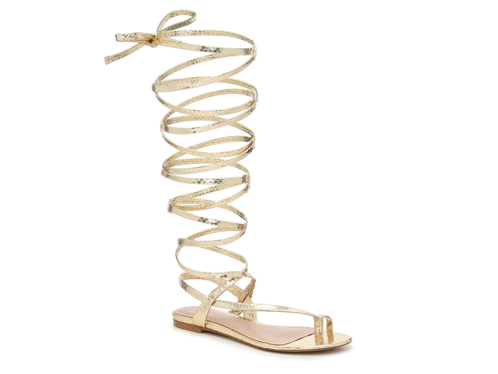 jlo, jennifer lopez, dsw, shoes, gold, sandals, gladiator