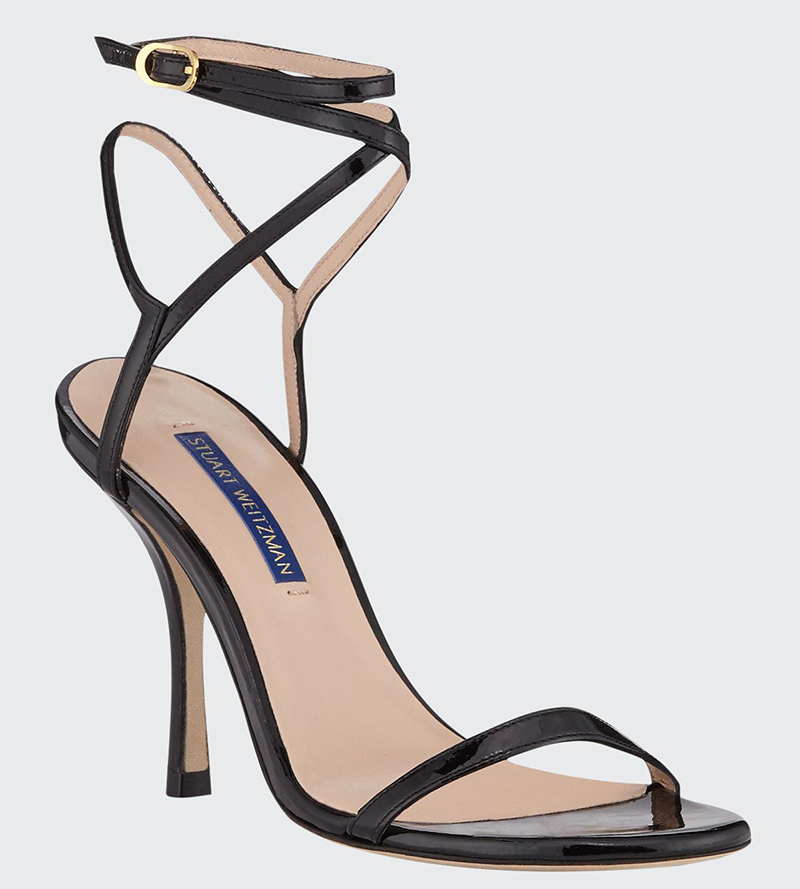 stuart weitzman, sandals, black