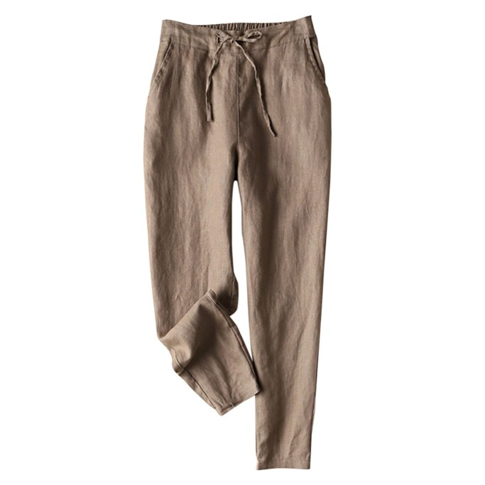 Iximo Tapered Linen Pants