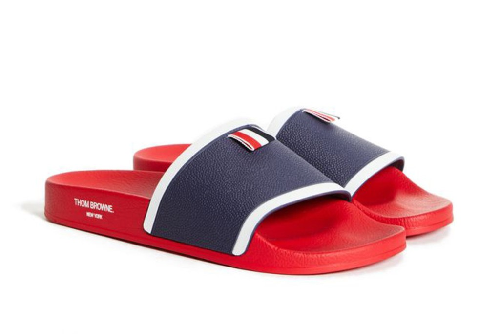 Thom Browne x Open Concepts collab, slides, menswear