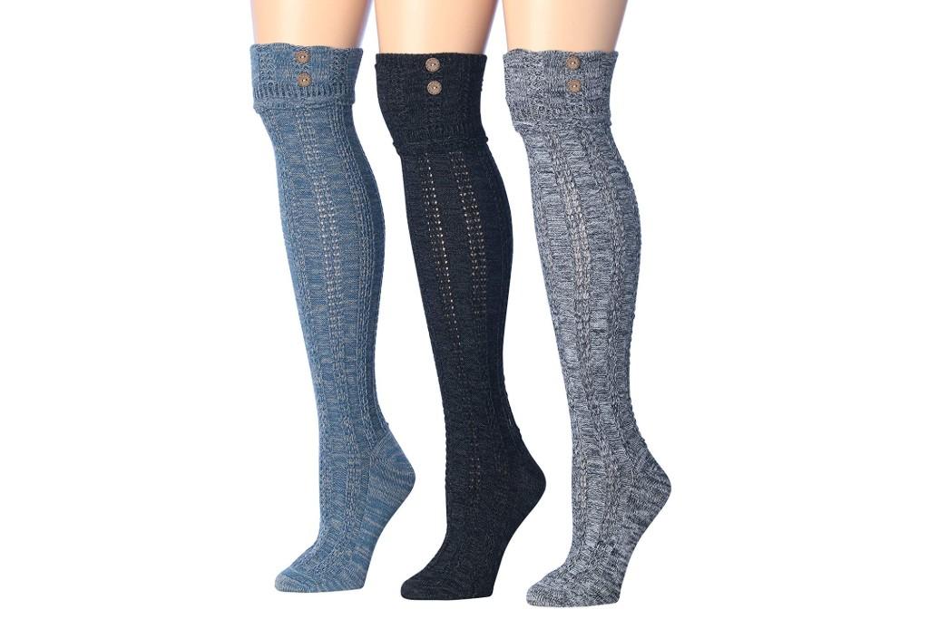 Tipi Toe Button Boot Socks