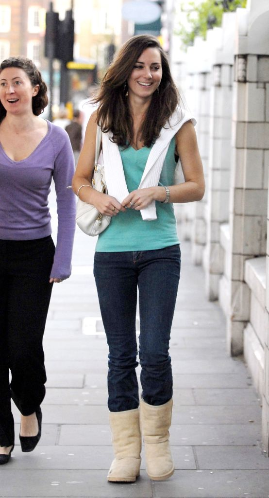 kate middleton, ugg boots, celebrity style, 2000s style