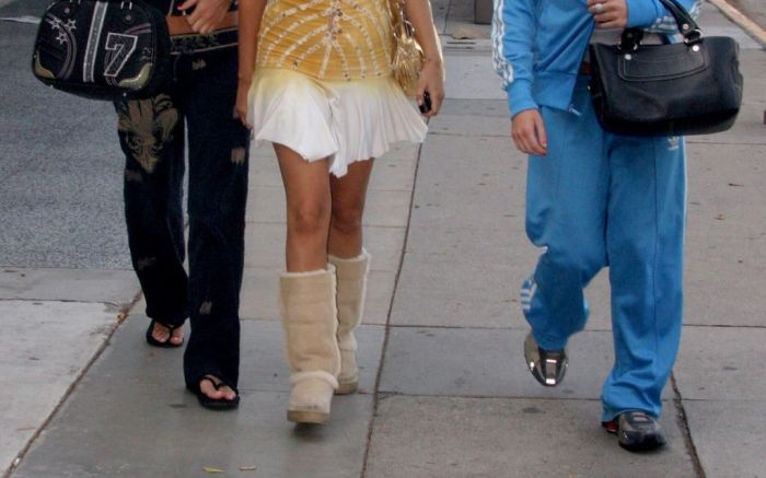 ugg boots, celebrity style, 2000s style