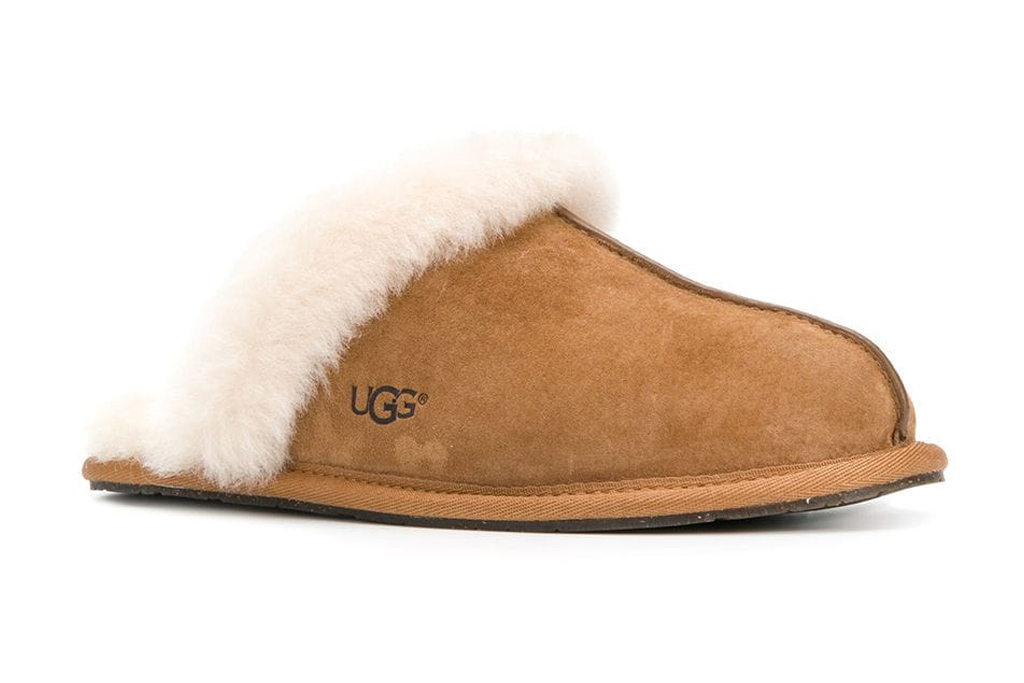 ugg slippers, brown slippers, suede