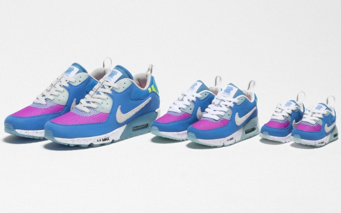 Undefeated x Nike, air max day, nike Air Max 90, Pacific Blue, undefeated