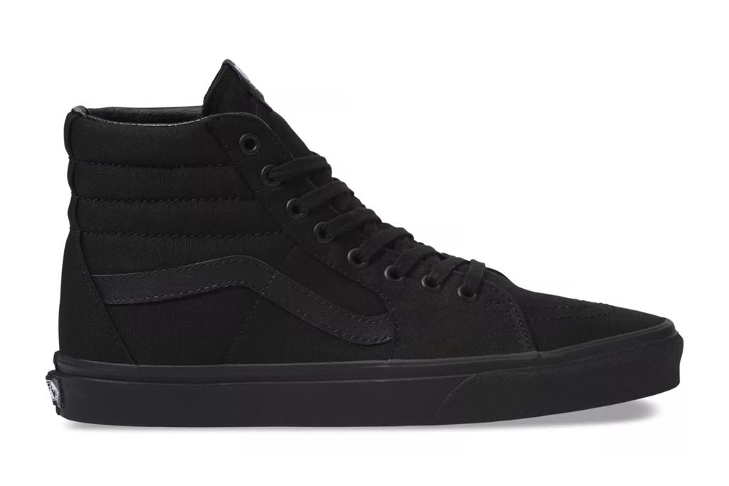 vans, sneakers, black, high tops