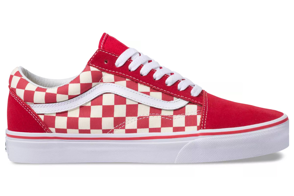 Vans, check, sneaker, red