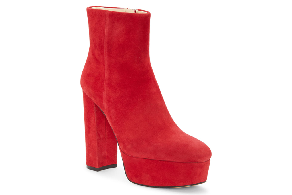 vince camuto, red boots