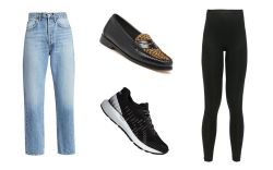work from home fashion, jeans, leggings,