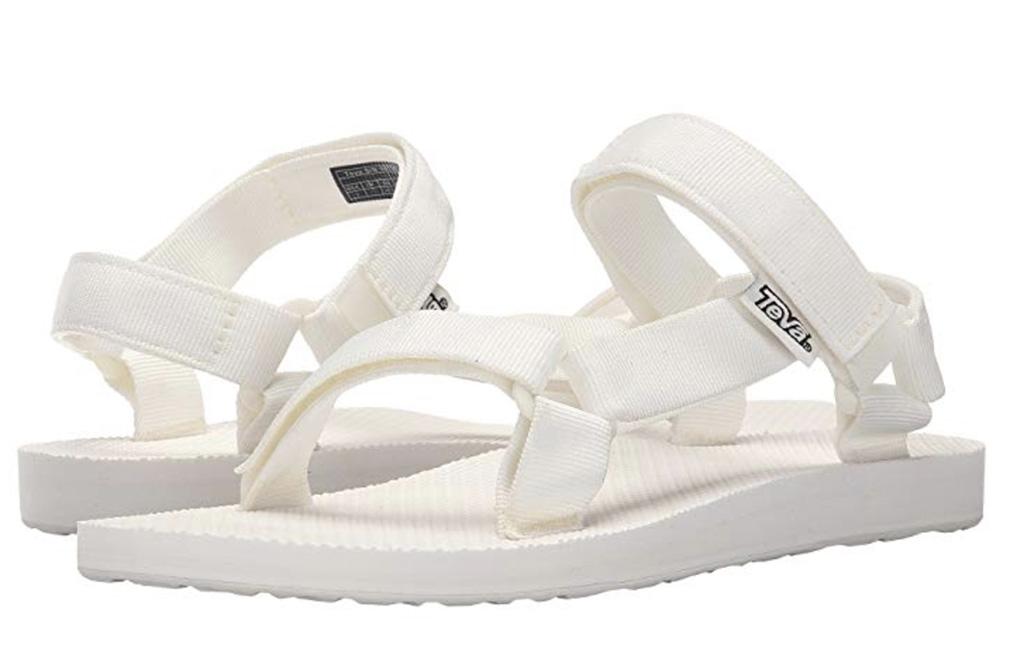 Teva Original Universal sandal, white sandals, socks and sandals