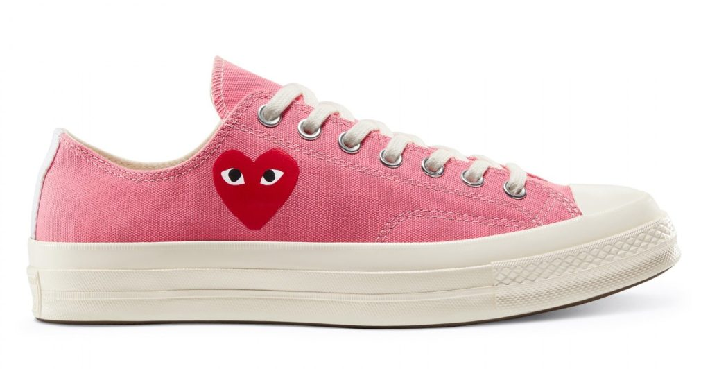 Comme des Garcons x Converse Chuck 70 Low 'Bright Pink'