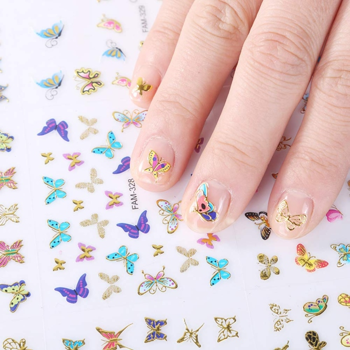 Comdoit Butterfly Nail Art Stickers