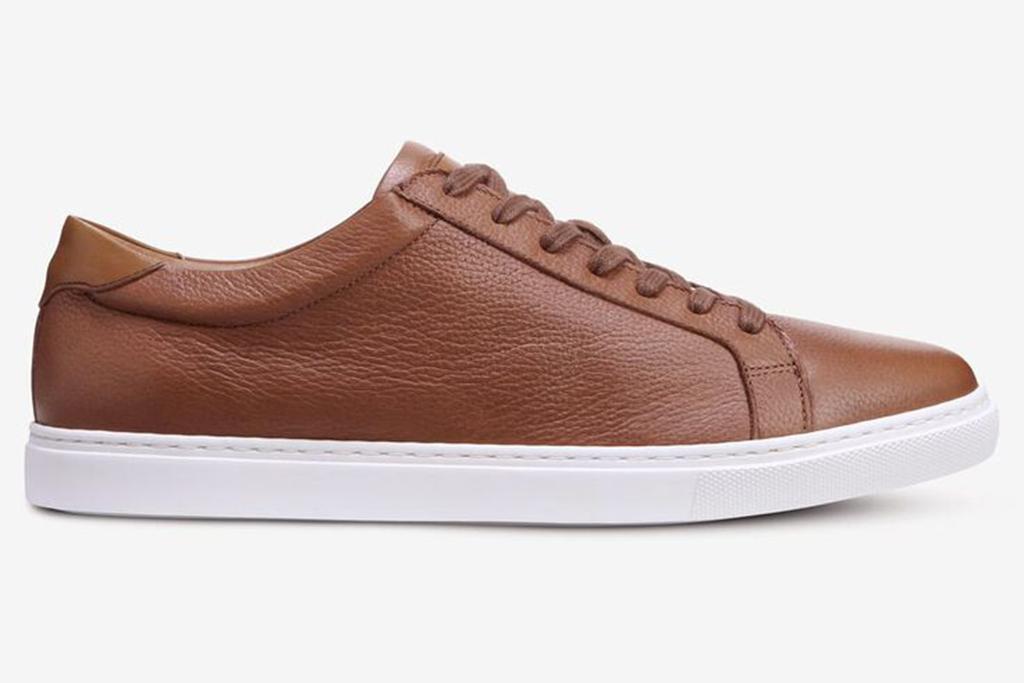 allen edmonds courtside sneaker, allen edmonds, brown sneaker