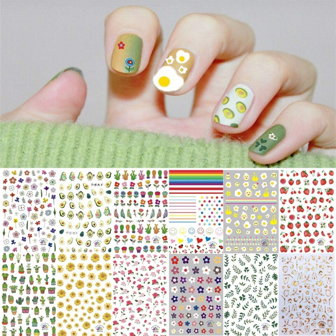 Kalolary Nail Decal Stickers