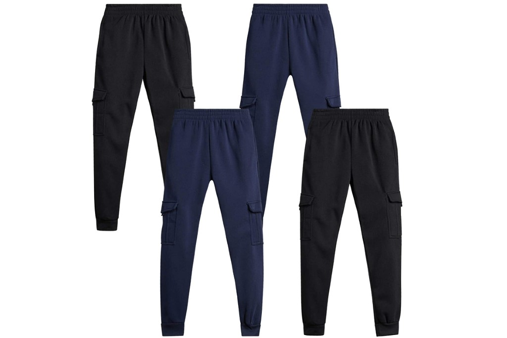 Quad Seven Boys Fleece Cargo Joggers