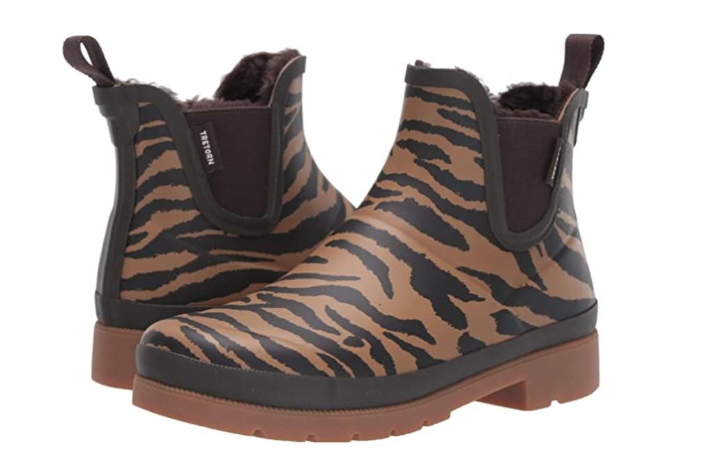 Tretorn Women's Linawnt2 Rain Boot, tiger print boots
