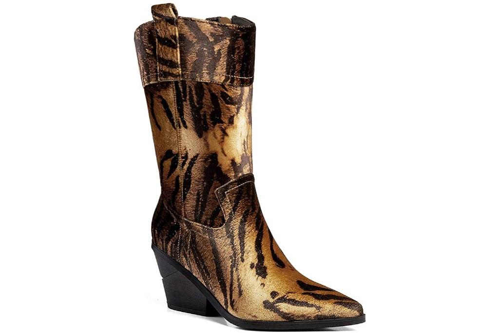 Ann Creek Orenta Mid-Calf Boot, tiger print boots
