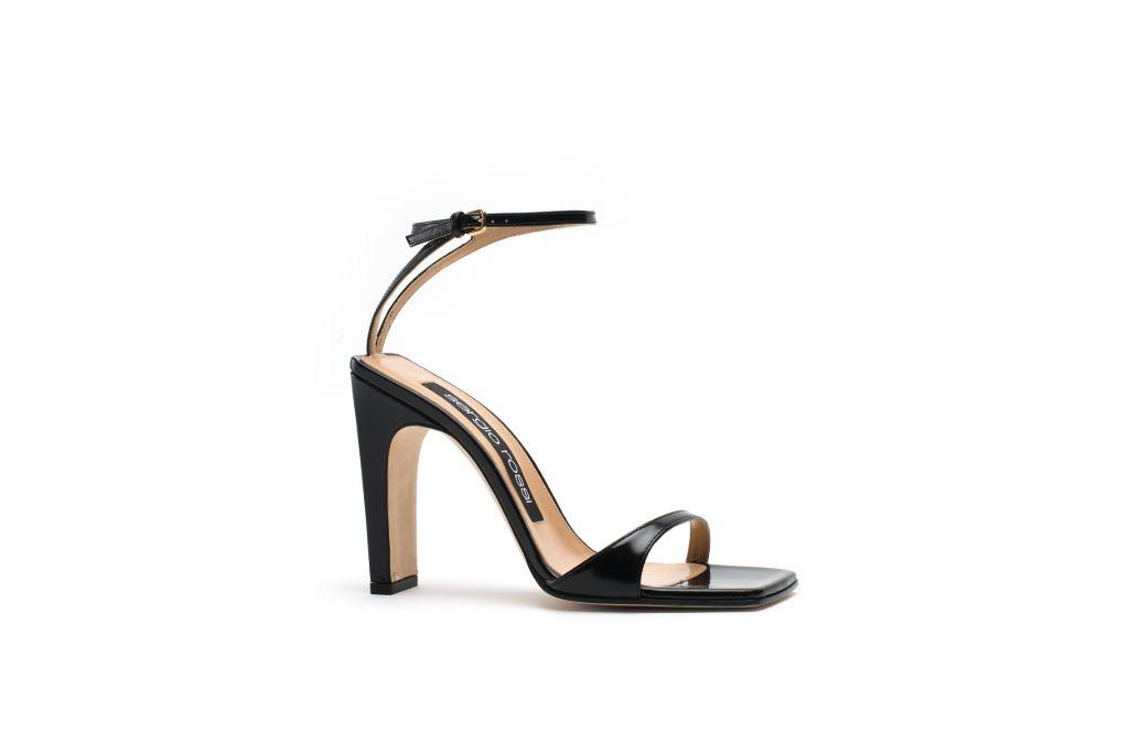 sergio rossi, sr1 sandal, square toe shoes, square toe sandals