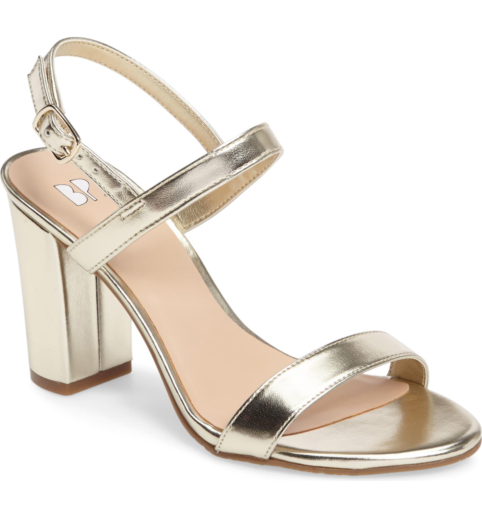 BP Gold sandals