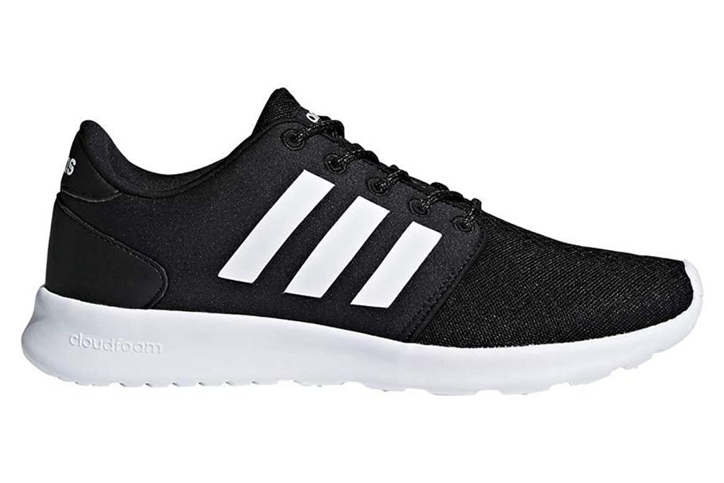adidas, black, white, running shoe
