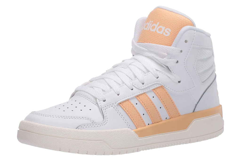 adidas, sneakers, white, high